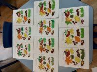 Dary jesieni - wyklejanie plasteliną
