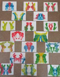Fantazyjne wzory malowane nitką.