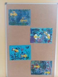 Ryby wakwarium-malowanie farbami
