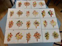 Jesienne liście-mozaika punktowa farbami plakatowymi