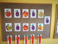 Owoce iwarzywa - wydzieranka zpapieru kolorowego
