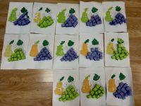 Owoce- wykonywanie zpapieru kolorowego