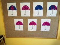 Parasol - ozdabianie konturu gładką bibułą