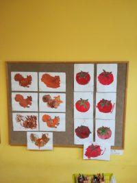 Wiewiórka, Pomidor malowanie farbami plakatowymi