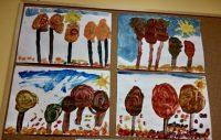 Złota jesień – malowanie farbami plakatowymi