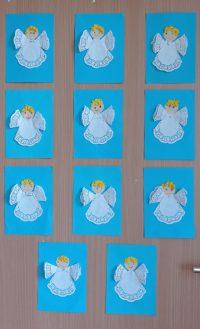 Aniołek wykonany zserwetki papierowej.
