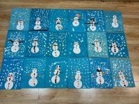 Bałwanek- wycinanie kół zpapieru, malowanie śniegu palcem