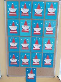 Mikołaj - praca zpapierowych talerzyków