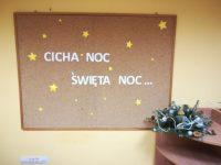 Dekoracja tablicy napis Cicha noc, święta noc…