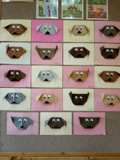 Piesek origami zkwadratu