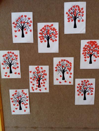 Walentynkowe drzewa