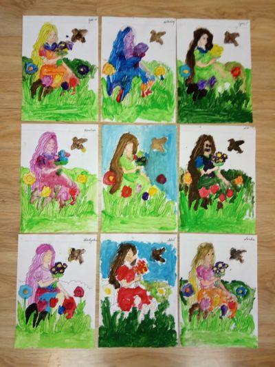 Wiosna malowanie farbami