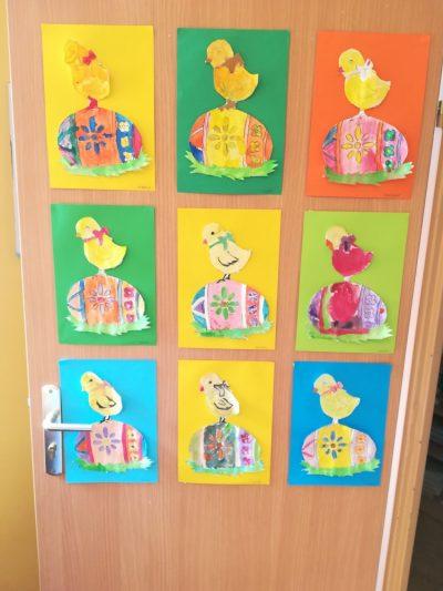 Kurczaczek – malowanie farbami plakatowymi