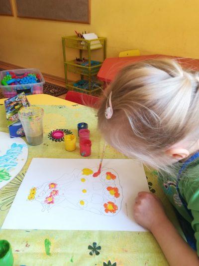 Malowanie farbami plakatowymi iakwarelowymi Pani Wiosny