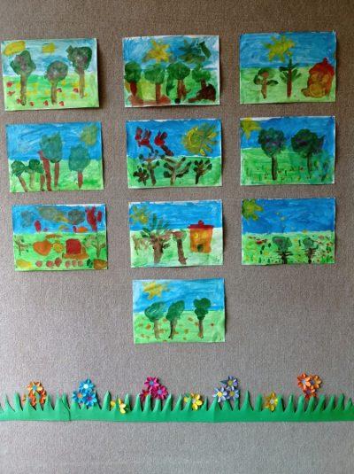 Temat dowolny - malowanie farbami plakatowymi