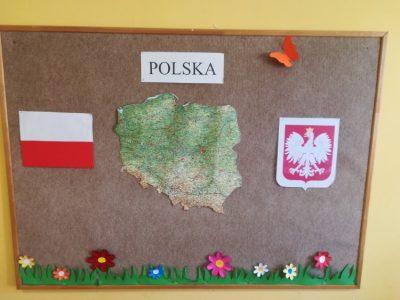 """Dekoracja tablicy """"Polska"""""""