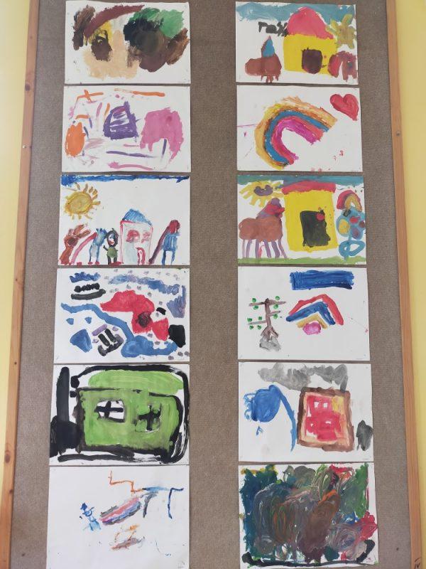 Moje przedszkole- malowanie farbami