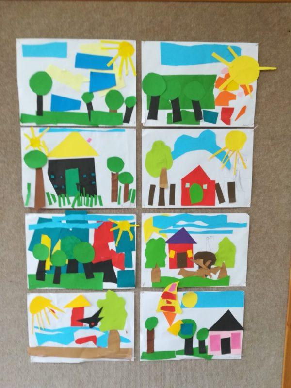 Temat dowolny wycinanka zpapieru kolorowego 4 latki