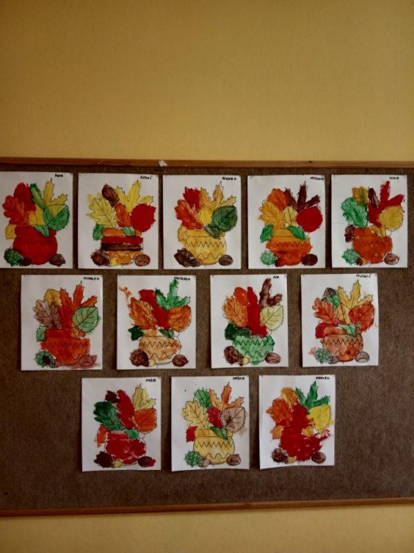 Dary jesieni malowanie farbami