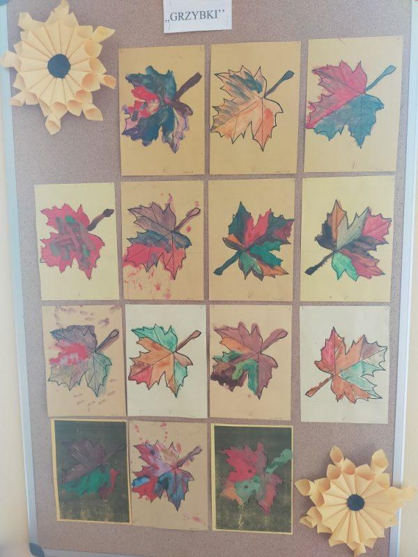 Jesienne liście -malowanie farbami