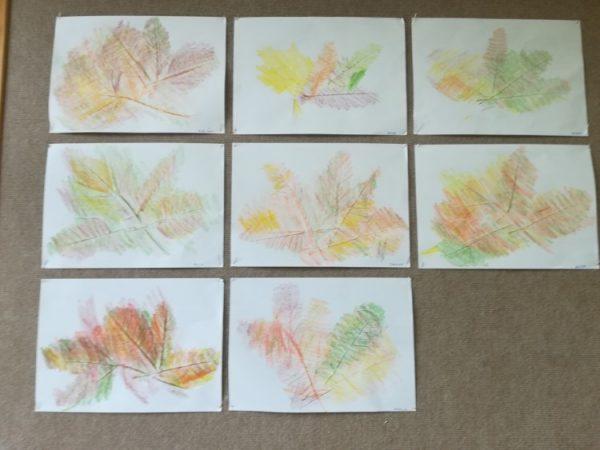 Jesienne liście - praca plastyczna