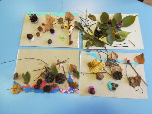 Lepienie zplasteliny zwykorzystaniem materiałów przyrodniczych - temat dowolny